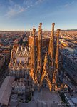 Barcelona, Spain. Sargrada Familia at sunset