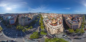 Barcelona, Spain. Casa Mila by Antonio Gaudi architect