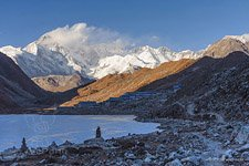 Evening view at Gokyo village
