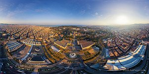 Barcelona, Spain. The magic fountan of Montjuic