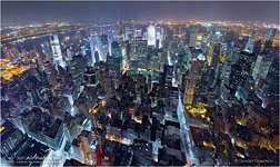 USA, New-York. Night Manhattan