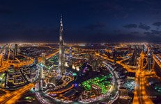 Burj Khalifa at night #3