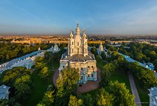 Smolny Cathedral, view from the embankment