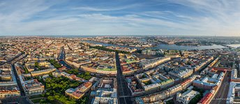 Above the Nevsky Prospect. Panorama