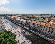 Bird's eye view of Griboyedov Canal Embankment
