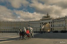 The carriage at the Palace Square