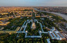 Bird's eye view of the Smolny Convent
