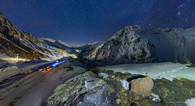Starry sky over mount Elbrus #6