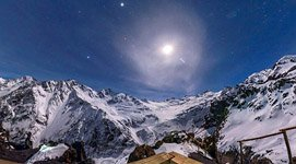 Starry sky over mount Elbrus #1