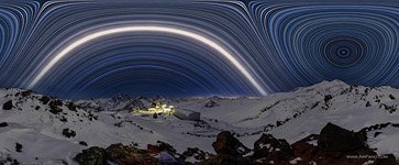 Starry sky over mount Elbrus #4