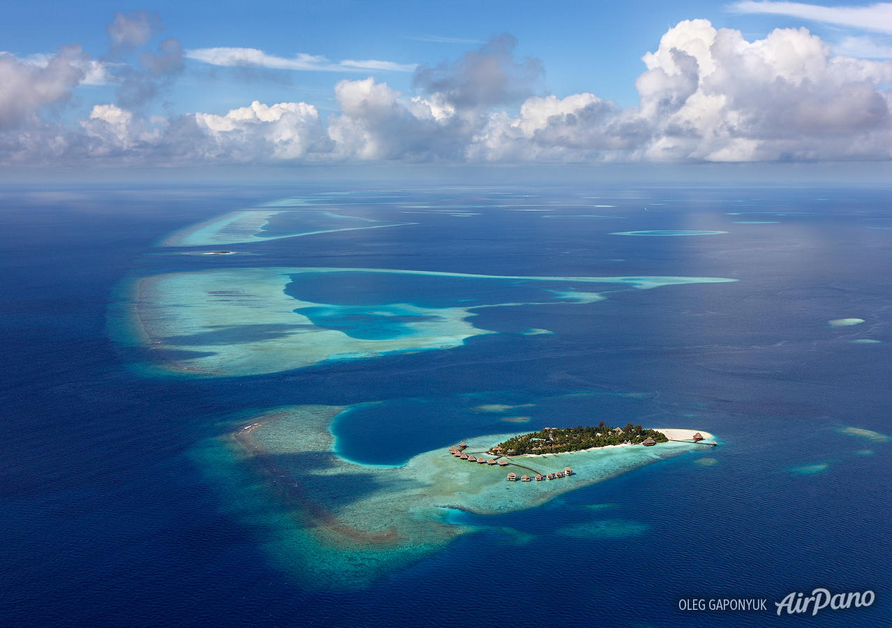 Maldives, North Atoll • AirPano.com • Photo