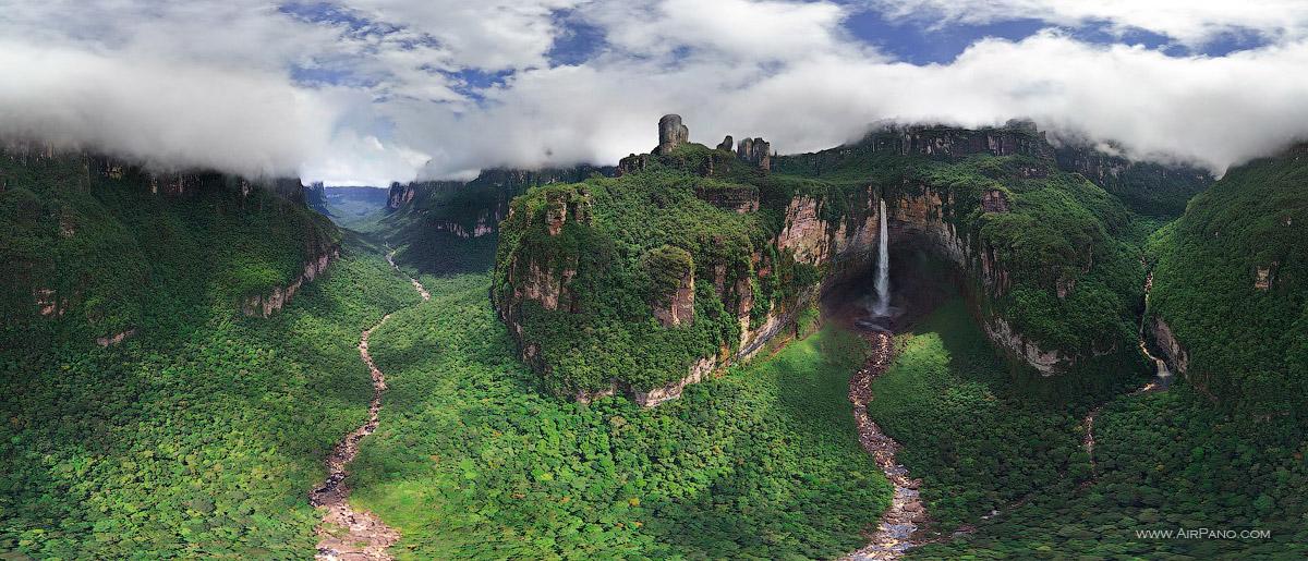 Venezuela, Angel Falls • AirPano.com • Photo