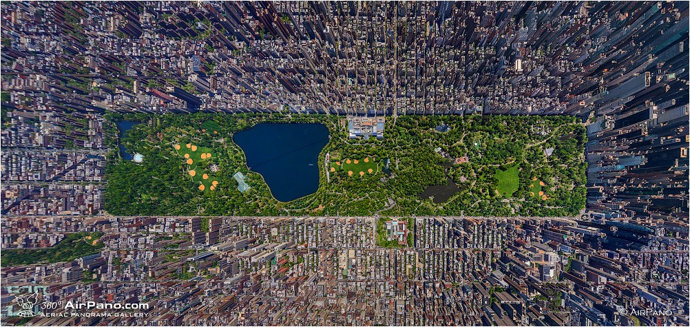 USA, New-York. Central Park, top view • AirPano.com • Photo
