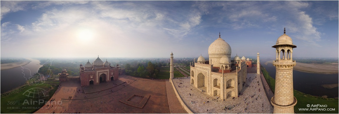 India, Taj Mahal from North-East • AirPano.com • Photo