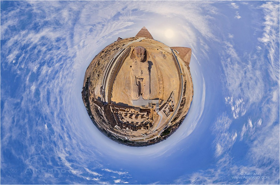 Egypt. Great Pyramids. Scope of the Sphinx • AirPano.com • Photo
