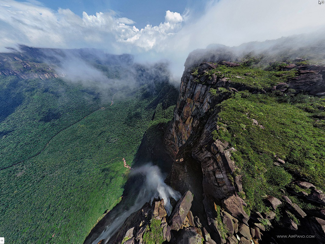 Venezuela, Angel Falls, view from 1500m. • AirPano.com • Photo