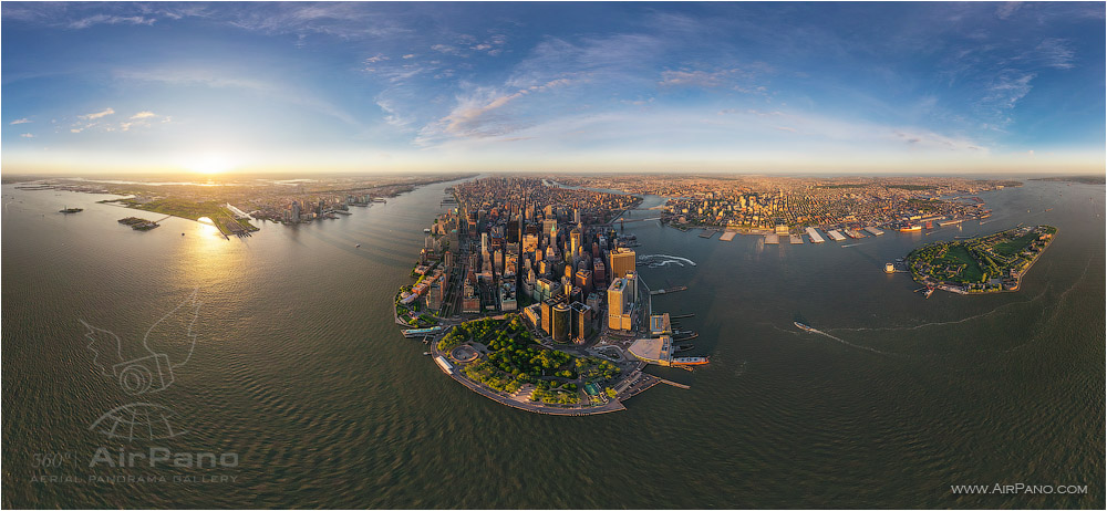 USA, New-York, Manhattan. «Financial District» - panorama • AirPano.com • Photo