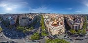 Barcelona, Spain. Casa Mila by Antonio Gaudi architect • AirPano.com • Photo