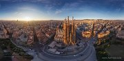 Barcelona, Spain. East side of Sargrada Familia • AirPano.com • Photo