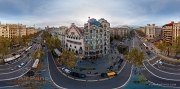 Barcelona, Spain. Battlo house by Antonio Gaudi architect (panorama) • AirPano.com • Photo