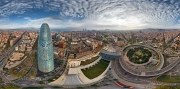 Barcelona, Spain. The Agbar tower • AirPano.com • Photo