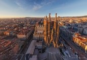 Barcelona, Spain. Sargrada Familia in the evening • AirPano.com • Photo