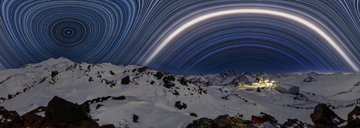 Starry sky over mount Elbrus - AirPano.com • 360 Degree Aerial Panorama • 3D Virtual Tours Around the World
