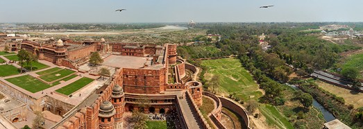 Agra Fort, India - AirPano.com • 360 Degree Aerial Panorama • 3D Virtual Tours Around the World
