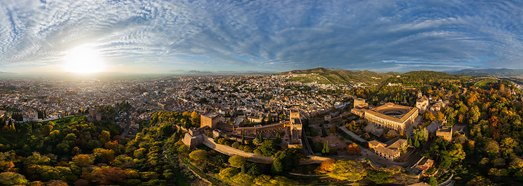 Alhambra, Granada, Spain - AirPano.com • 360 Degree Aerial Panorama • 3D Virtual Tours Around the World