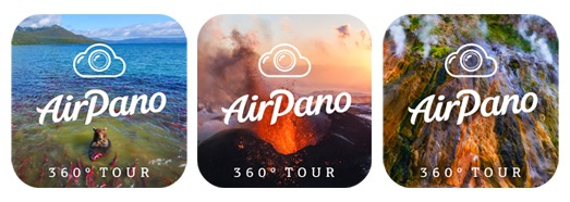 Three applications by AirPano available in the App Store - AirPano.com • 360 Degree Aerial Panorama • 3D Virtual Tours Around the World