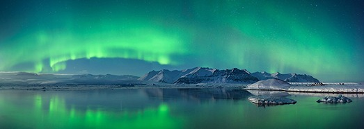 Polar lights in Iceland - AirPano.com • 360 Degree Aerial Panorama • 3D Virtual Tours Around the World