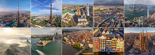 The most beautiful cities in the world - AirPano.com • 360 Degree Aerial Panorama • 3D Virtual Tours Around the World
