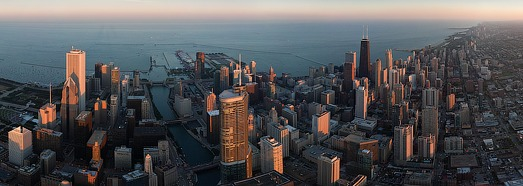 Chicago, Illinois, USA - AirPano.com • 360 Degree Aerial Panorama • 3D Virtual Tours Around the World