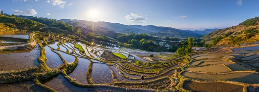 Yuanyang Hani Rice Terraces, China - AirPano.com • 360 Degree Aerial Panorama • 3D Virtual Tours Around the World