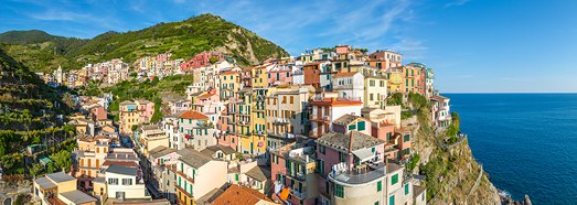 Manarola, Cinque Terre, Italy - AirPano.com • 360 Degree Aerial Panorama • 3D Virtual Tours Around the World
