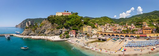 Monterosso, Cinque Terre, Italy - AirPano.com • 360 Degree Aerial Panorama • 3D Virtual Tours Around the World