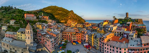 Vernazza, Cinque Terre, Italy - AirPano.com • 360 Degree Aerial Panorama • 3D Virtual Tours Around the World