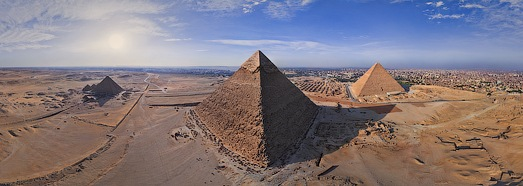 Great Pyramids of Giza in Egypt - AirPano.com • 360 Degree Aerial Panorama • 3D Virtual Tours Around the World