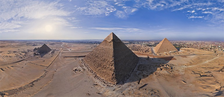 Great Pyramids of Giza in Egypt - the Seventh Wonder of the