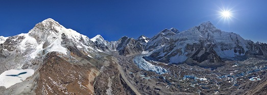 Everest, Himalayas, Nepal, Part I, January 2012 - AirPano.com • 360 Degree Aerial Panorama • 3D Virtual Tours Around the World