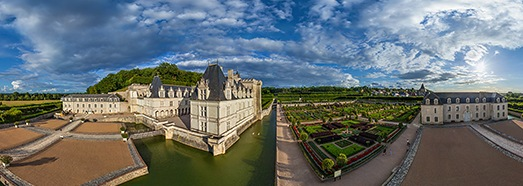 Chateaux of the Loire Valley, France. Part I - AirPano.com • 360 Degree Aerial Panorama • 3D Virtual Tours Around the World