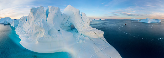Icebergs of Greenland - AirPano.com • 360 Degree Aerial Panorama • 3D Virtual Tours Around the World