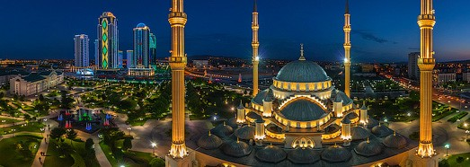 Akhmad Kadyrov Mosque, Grozny, Russia - AirPano.com • 360 Degree Aerial Panorama • 3D Virtual Tours Around the World