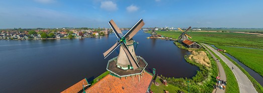 Holland. Windmills - AirPano.com • 360 Degree Aerial Panorama • 3D Virtual Tours Around the World