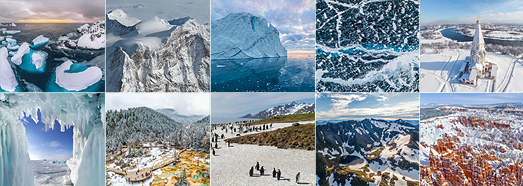 Ice and snow - AirPano.com • 360 Degree Aerial Panorama • 3D Virtual Tours Around the World