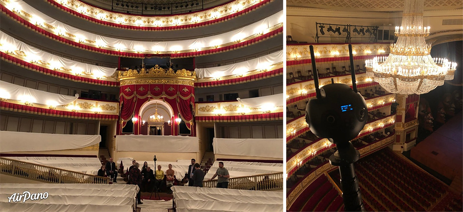 One day of Alexandrinsky Theater in St. Petersburg