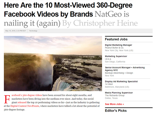 AirPano in the Top-10 of the most popular 360° videos on Facebook