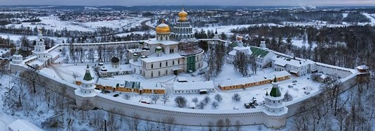 New Jerusalem Monastery, Russia - AirPano.com • 360 Degree Aerial Panorama • 3D Virtual Tours Around the World