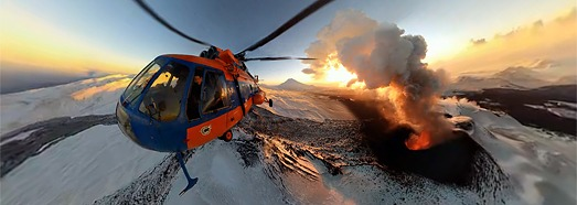 Plosky Tolbachik Volcano Eruption, Kamchatka, Russia - AirPano.com • 360 Degree Aerial Panorama • 3D Virtual Tours Around the World