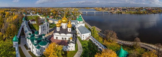 Golden Ring of Russia, Kostroma - AirPano.com • 360 Degree Aerial Panorama • 3D Virtual Tours Around the World